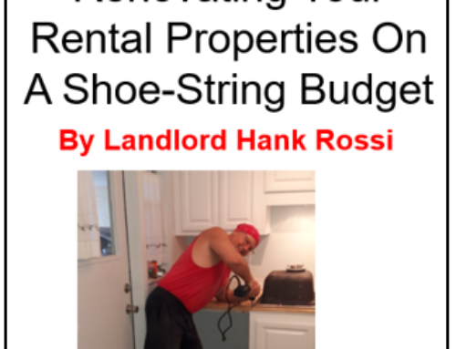 "Get Landlord Hank's eBook ""Renovating Your Rental On A Shoe-String Budget"""